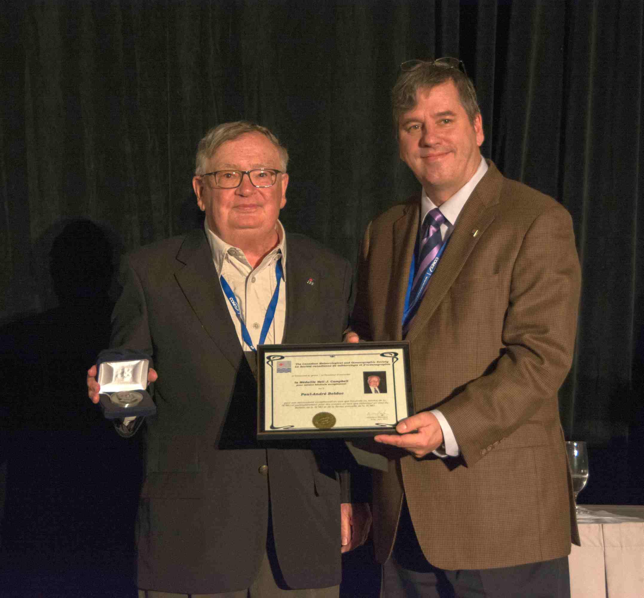 La médaille Neil J. Campbell pour service bénévole exceptionnel 2016