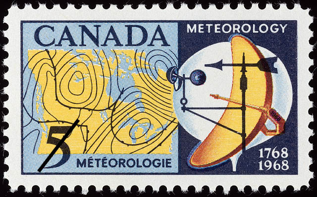 Canadian Meteorological Postage Stamps